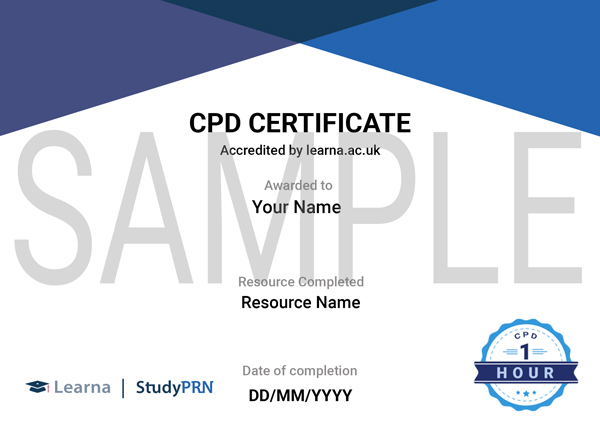 Sample CPD Certificate